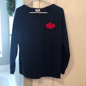 Old Navy heart sweatshirt